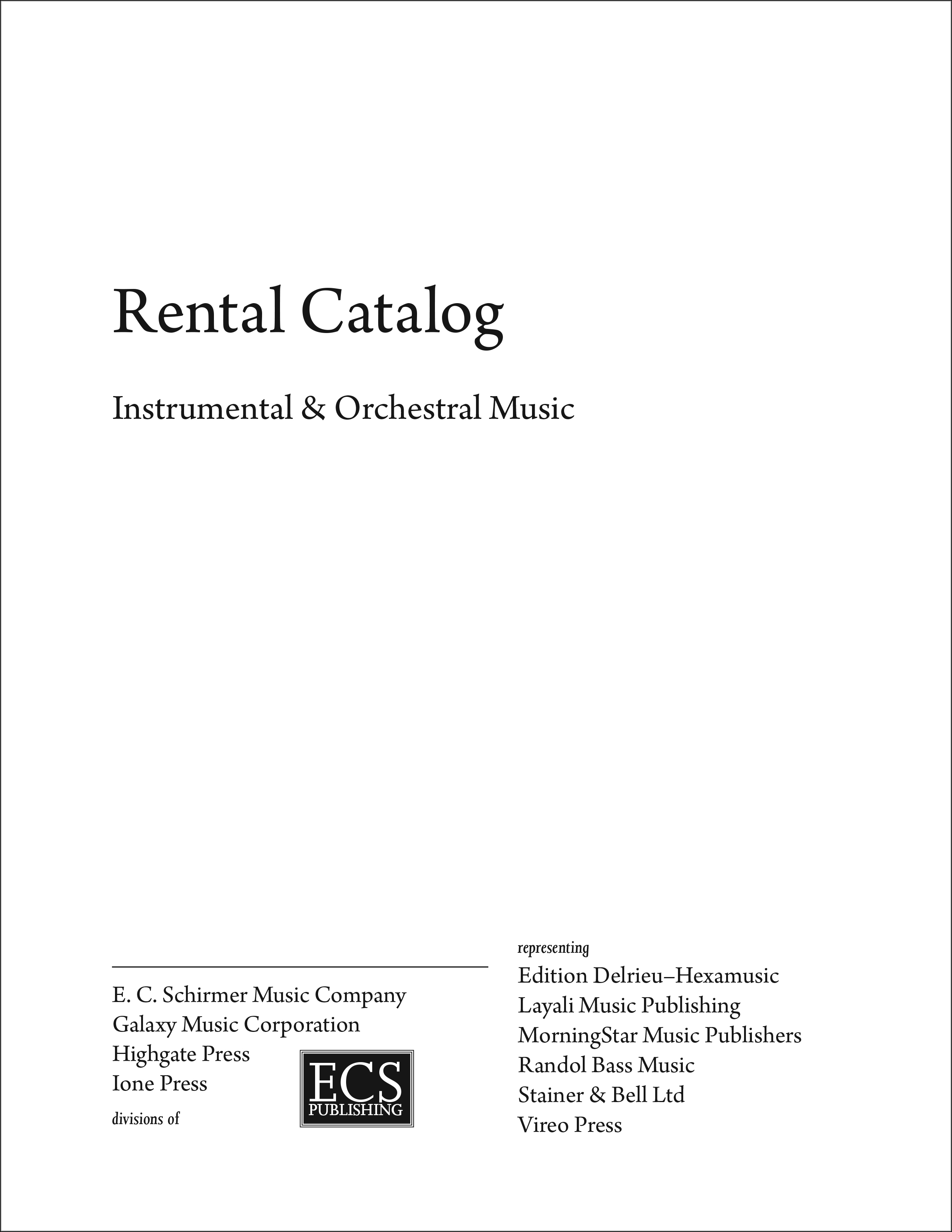 ECS Rental Catalog